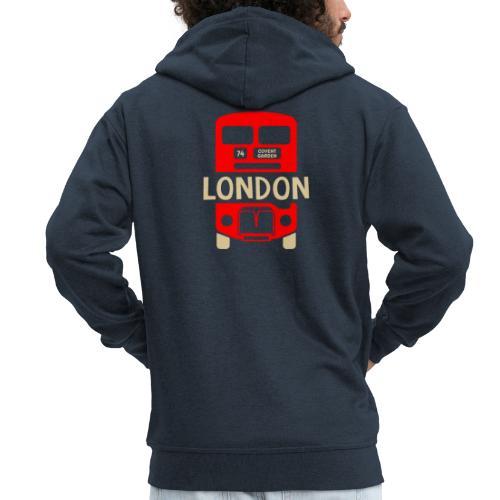 London Bus Roter Doppeldecker London Fan Souvenir - Männer Premium Kapuzenjacke