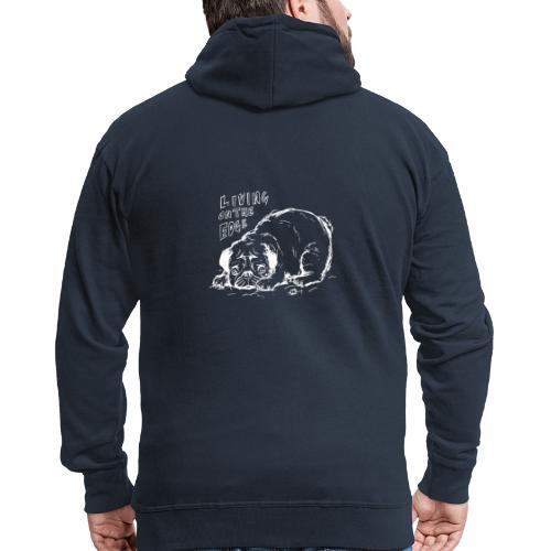 Living on the edge WHITE - Men's Premium Hooded Jacket