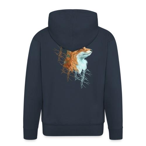 Happy the Fox - Männer Premium Kapuzenjacke