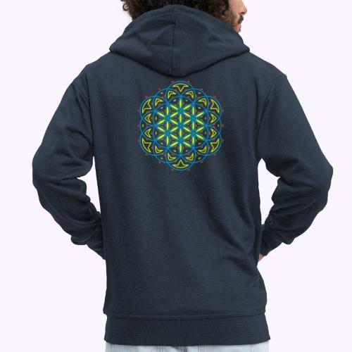 Flower 0f Life 3 - Men's Premium Hooded Jacket