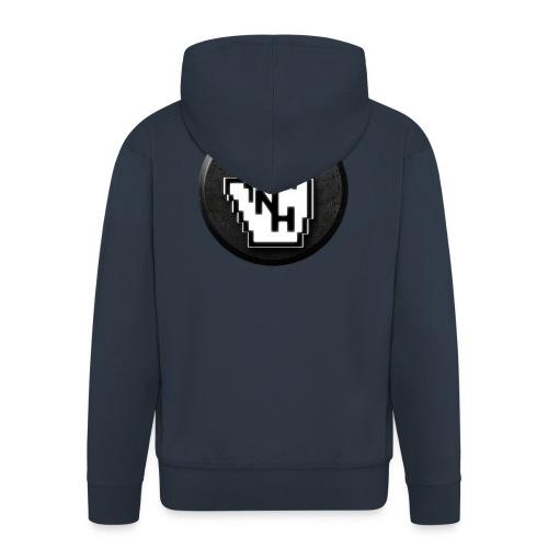 NoHand T-Shirt Schwarz (ohne Text) - Männer Premium Kapuzenjacke