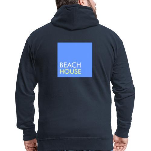 Blue Summer Logo - Men's Premium Hooded Jacket
