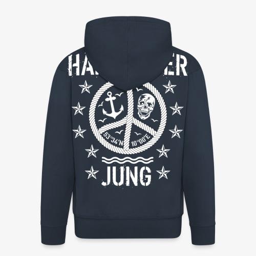 96 Hamburger Jung Peace Friedenszeichen Seil - Männer Premium Kapuzenjacke