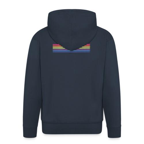 Colored lines - Men's Premium Hooded Jacket