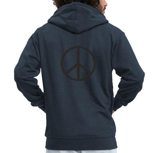Símbolo de la paz negro - Chaqueta con capucha premium hombre