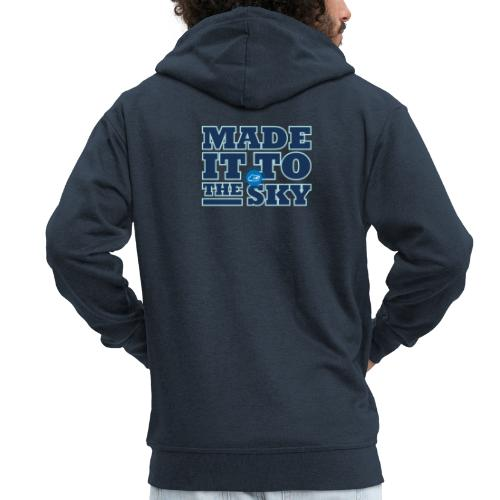 Made it to the sky (Dark blue) - Men's Premium Hooded Jacket