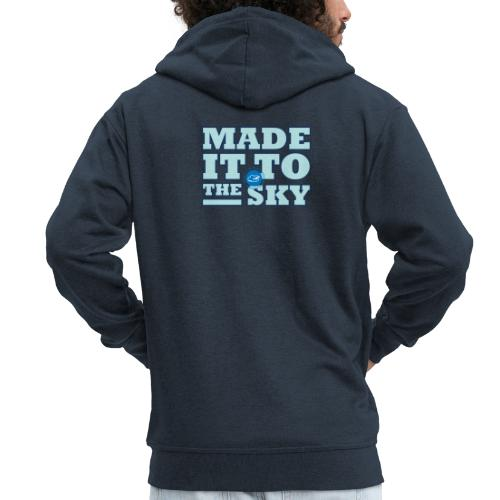 Made it to the sky (Light blue) - Men's Premium Hooded Jacket