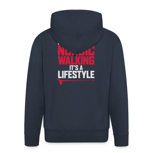 It's more than Nordic Walking - Miesten premium vetoketjullinen huppari