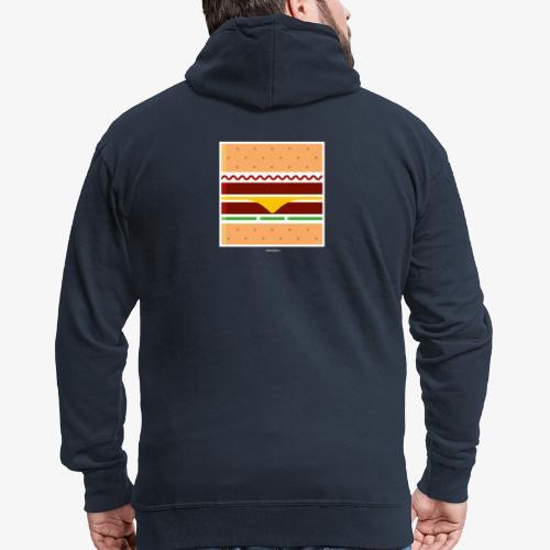 Square Burger - Felpa con zip Premium da uomo