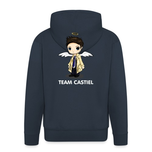 Team Castiel (dark) - Men's Premium Hooded Jacket