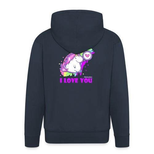 unicorn_love - Männer Premium Kapuzenjacke