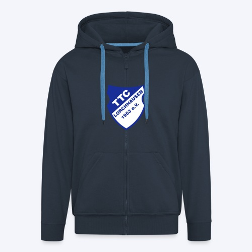 TTC Wappen weiß - Männer Premium Kapuzenjacke
