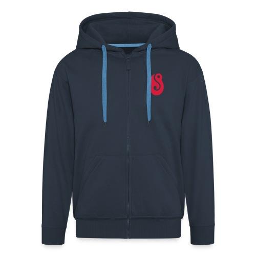 hook, lucky, lures - Men's Premium Hooded Jacket