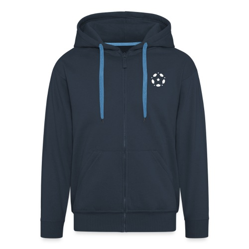 Star of the Beautiful Game vector small - Men's Premium Hooded Jacket