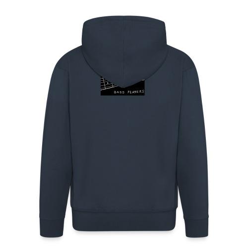 I Love Bass Players - Men's Premium Hooded Jacket