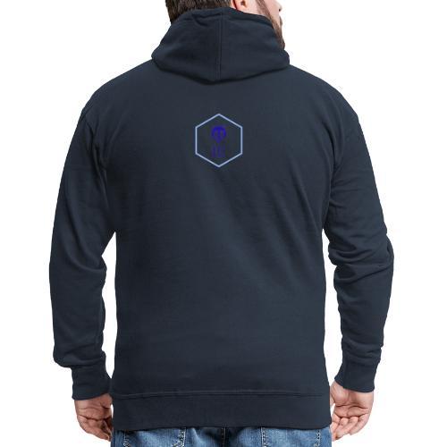logo small - Felpa con zip Premium da uomo