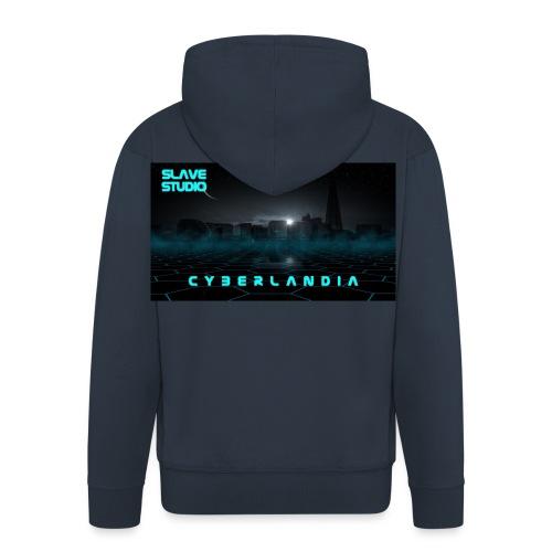 Cyberlandia - Felpa con zip Premium da uomo