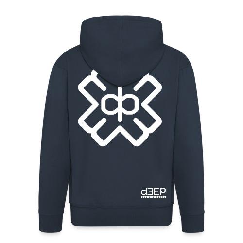 July D3EP Blue Tee - Men's Premium Hooded Jacket