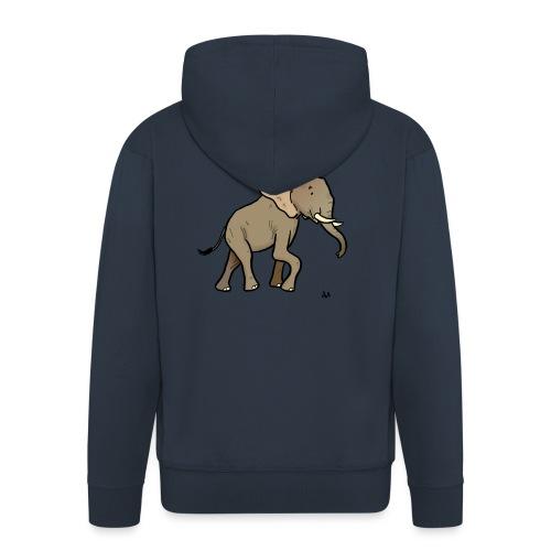 Afrikansk elefant - Premium Hettejakke for menn