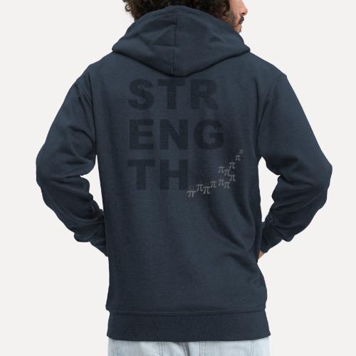 Strength In Numbers - Men's Premium Hooded Jacket