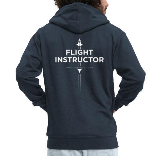 FlightInstructor white - Männer Premium Kapuzenjacke