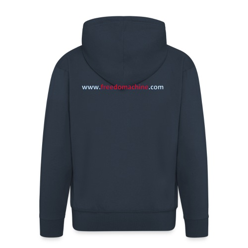 Freedomachine URL - Men's Premium Hooded Jacket