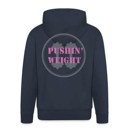 Pushing Weight pink - Mannenjack Premium met capuchon