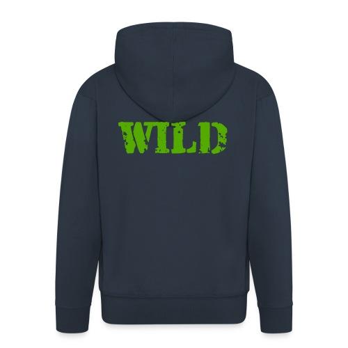 wild - Felpa con zip Premium da uomo