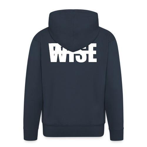 WISEFINALwhite - Men's Premium Hooded Jacket