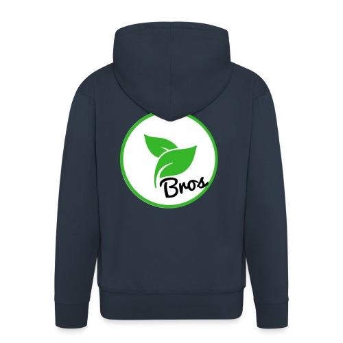 Twin Bros (Large Logo) - Men's Premium Hooded Jacket