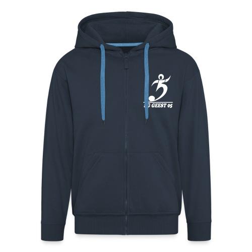 sg geest 05 logo navy - Männer Premium Kapuzenjacke