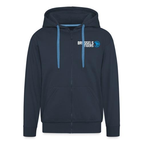 BrusselsTigers LogoWebsit - Men's Premium Hooded Jacket