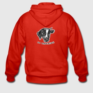 No Difference Between Dog and Cow - Men's Premium Hooded Jacket