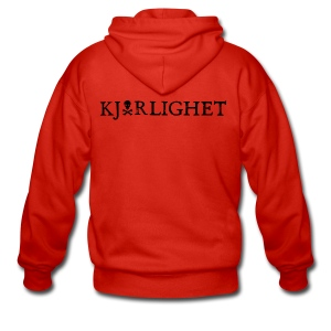 Kjærlighet (Love) | Black Text - Men's Premium Hooded Jacket