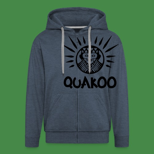 Quakoo Logo - Männer Premium Kapuzenjacke