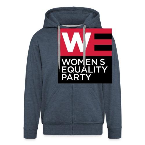 WE_LOGO_RED_CMYK - Men's Premium Hooded Jacket