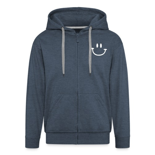 Grau meliert ptb_logo_2010 Pullover - Men's Premium Hooded Jacket