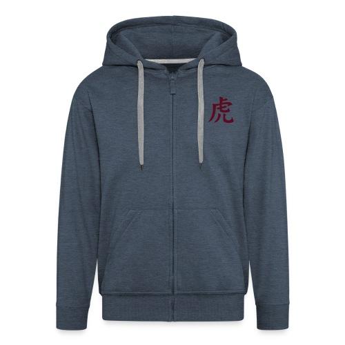 tora kanji - Men's Premium Hooded Jacket