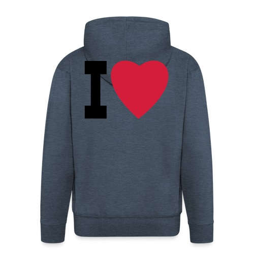 create your own I LOVE clothing and stuff - Men's Premium Hooded Jacket