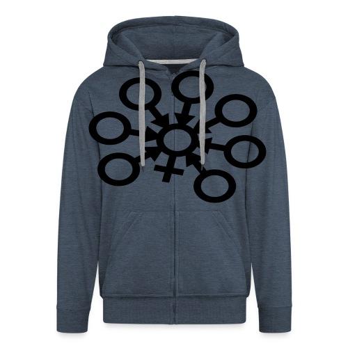 GangBang Symbol einfarbig - Männer Premium Kapuzenjacke