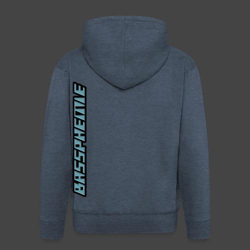 Bassphemie - Blau (Original Design) - Männer Premium Kapuzenjacke