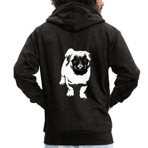 Mops Hund Hunde Möpse Geschenk - Männer Premium Kapuzenjacke
