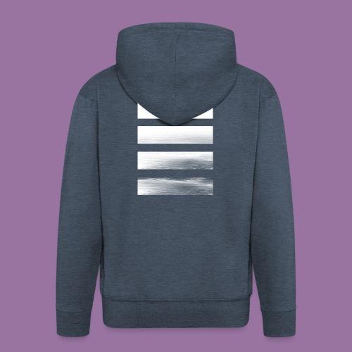 Stripes Horizontal White - Felpa con zip Premium da uomo