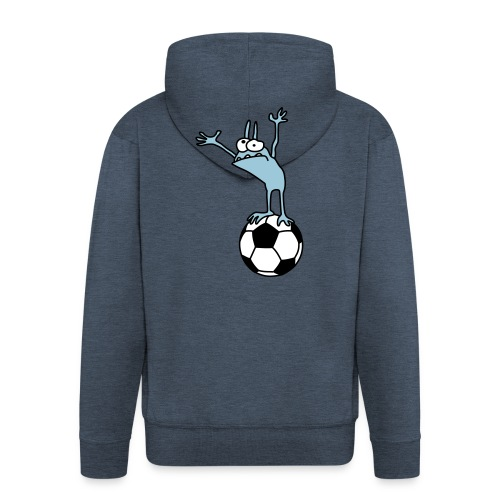 Kobold mit Fußball - Men's Premium Hooded Jacket
