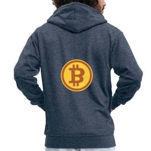 Bitcoin - Männer Premium Kapuzenjacke