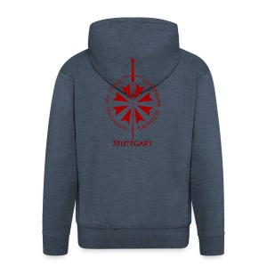T shirt front S - Männer Premium Kapuzenjacke