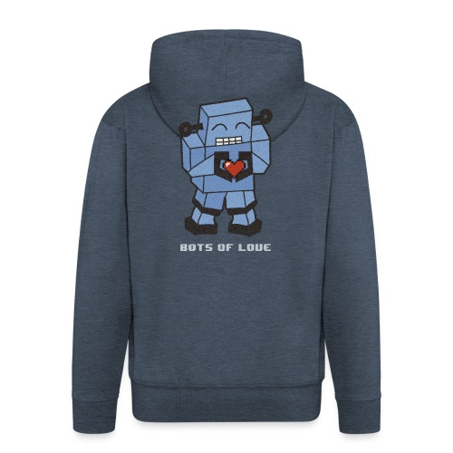Bots of love grunge - Men's Premium Hooded Jacket