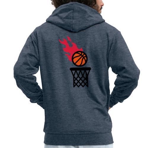 fire basketball - Men's Premium Hooded Jacket