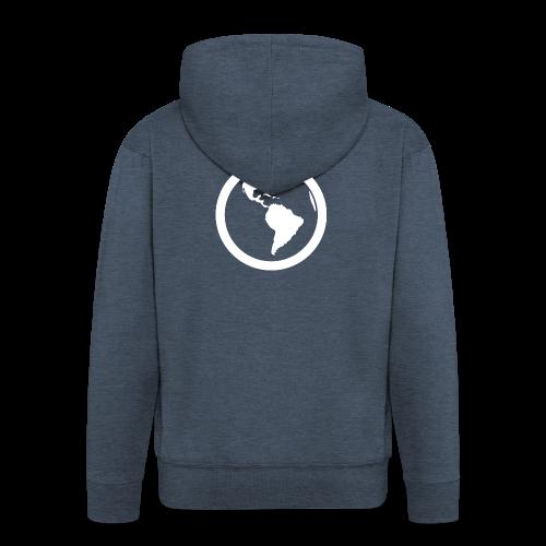 Earth - Felpa con zip Premium da uomo