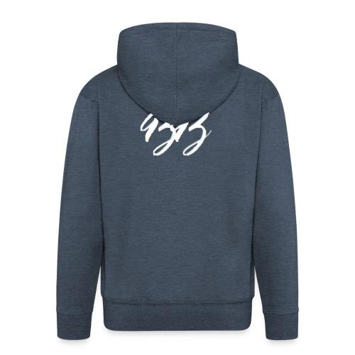 Collection Logo BB Blanc - Veste à capuche Premium Homme